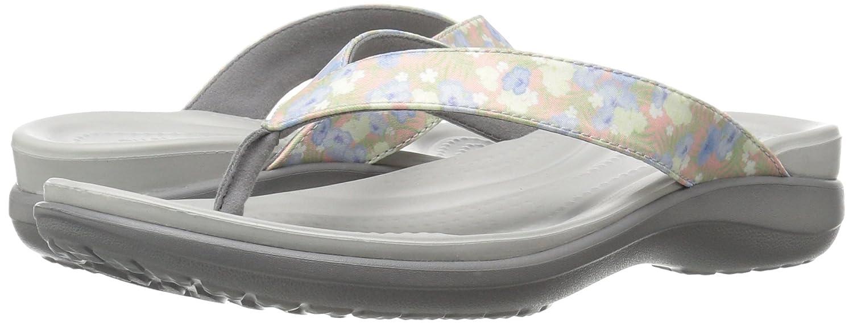 0809913c5 Crocs Women s Capri V Graphic Flip W FLR LGR Open Back Slippers ...