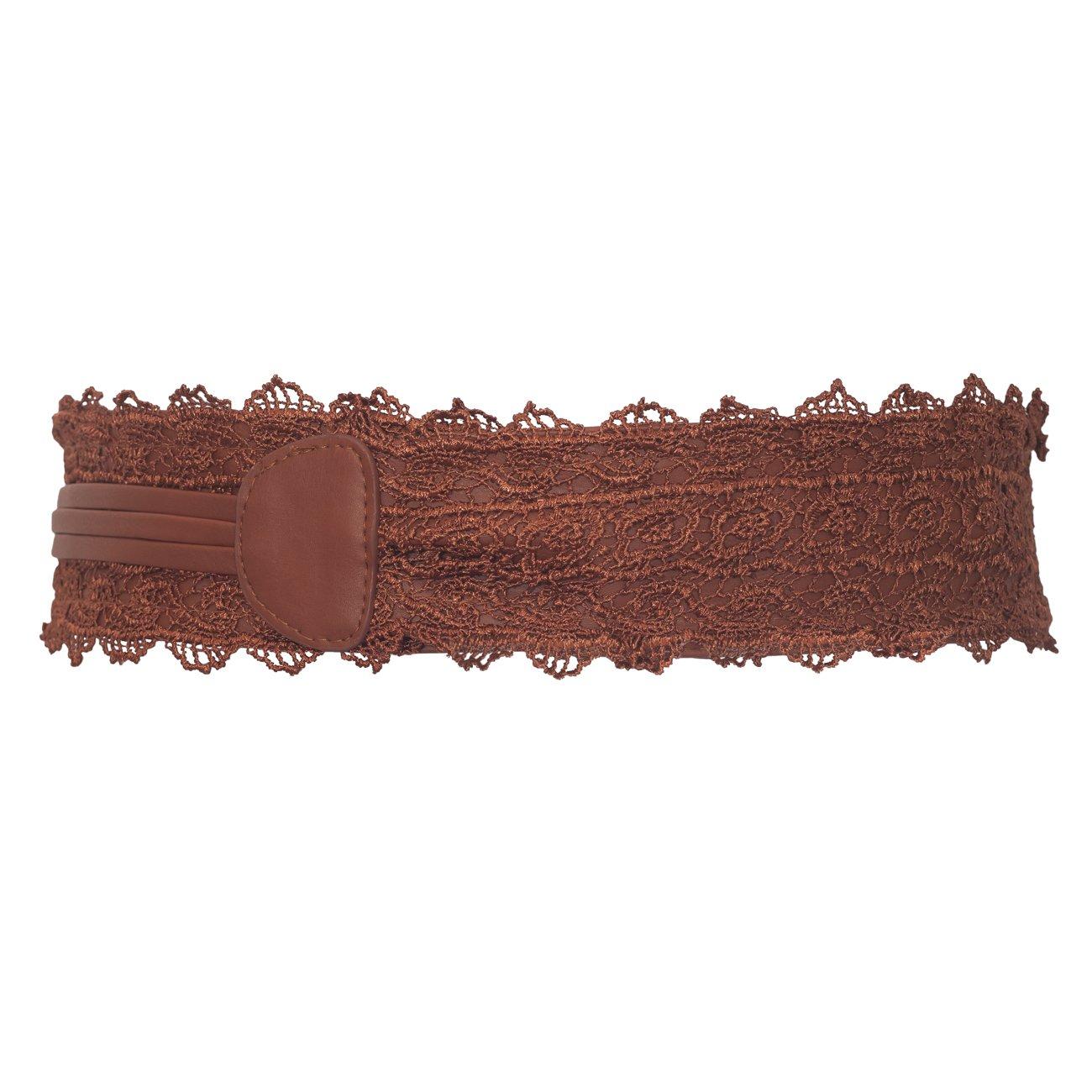 eVogues Plus size Faux Leather Obi Waistband Sash Belt