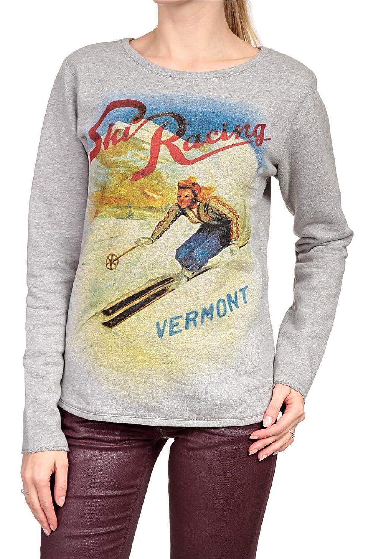 Hotspot Damen Sweatshirt SKI RACING 2, Farbe: Grau