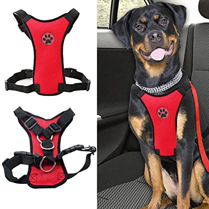 Harnesses Pet Supplies Dog Seat Belt Leash Harness Car Safety Pet Clip Travel Restraint Mesh Lead