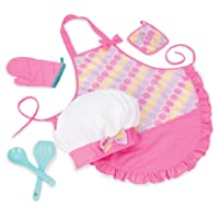 Play Circle by Battat – Smart Cookie Chef's Apron – Chef Hat and Matching Pink Apron...