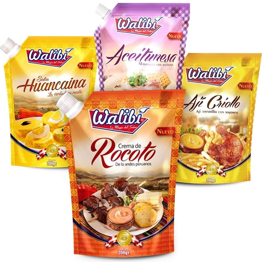 Walibi eJoyStore Criollo Pack Olive Dream - Crema de Rocoto, Aceitunesa, Huancaina, and Aji Criollo. Helps Give Taste To Food!