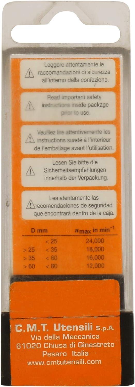 CMT Orange Tools 659,047,11-Fraise /à arrondir Lames r/éversibles s 6 degr/és z2 dx 45 degr/és