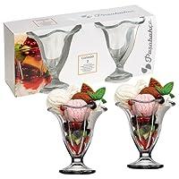 Set Of 4 Ice Cream Cup Sundae Bowls
