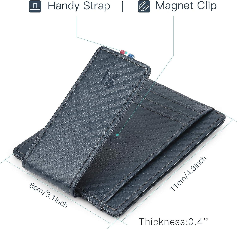 EF83 Leather Credit Card Holder Clip Business Bag Purse Cash Gift Wallet Money