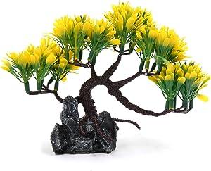 uxcell rium Decorative Plastic Plant Landscape Ornament Home Decoration