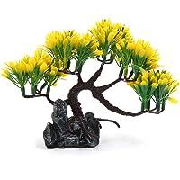uxcell Yellow Plastic Tree rium Landscape Decoration Home Decor 5.1inch High