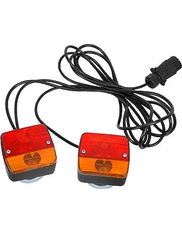 Feu de Remorque LED Convient Pour RV//Camions//Caravanes//Voiture//Feux Arri/ère De Remorque 12V LED Feux Arriere Remorque De Lumi/ère Avec Plaque Dimmatriculation Lampe ETUKER 2PCS Feu LED Remorque