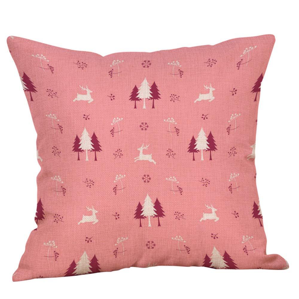Bescita Weihnachten Kissenhü lle Dekokissen Throw Pillow Covers Bettwä sche Fü r Autos Sofakissen StartseiteDekorative Weihnachten Sofa Bett Home Decor Kissen Kissenbezug (A)