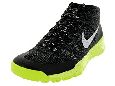 low cost ab4a1 ad472 Nike Mens Flyknit Trainer Chukka Fsb BlackWhiteVolt Training Shoe 10 Men  US