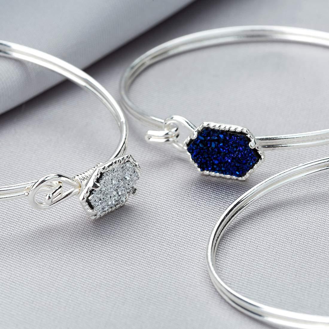 cfcad46169ddc DALARAN Bracelet de Femmes Bracelet de Manchettes Bracelet Extensible  Bracelet de Manchette Argent  Amazon.fr  Bijoux
