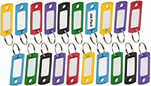 """Lucky Line Flexible Colored Plastic Key Tag with 3/4"""" Split Ring in Assorted Colors, Includes 200 Tags (16900)"""