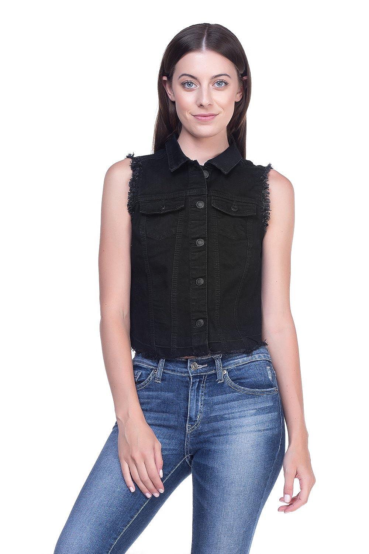 Calilogo Women's Denim Jean Vest Collection SM-3XL