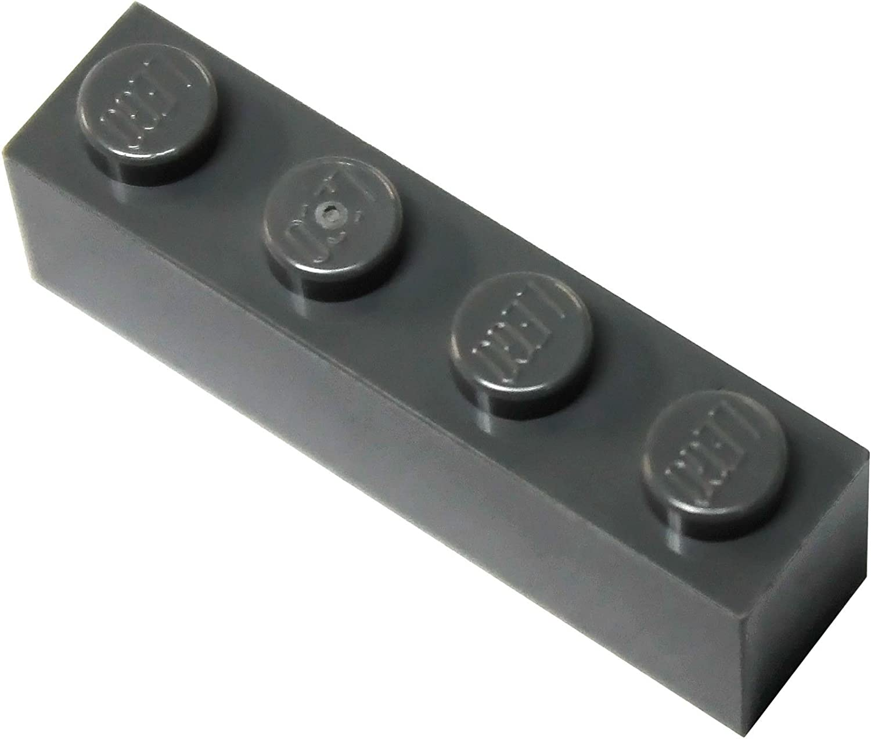 LEGO Parts and Pieces: Dark Gray (Dark Stone Grey) 1x4 Brick x100