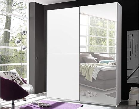 Möbelando Noni Ii Sliding Door Wardrobe Bedroom Cupboard Amazon De Home Kitchen