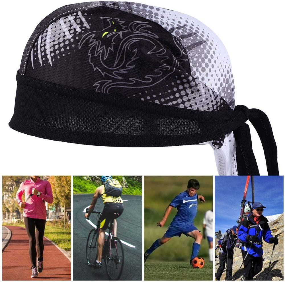 Alomejor Ciclismo Pa/ñuelo Gorras Ciclismo Enfriamiento Sombrero Cabeza Transpirable Bufanda Cinta para Deportes al Aire Libre Ciclismo Correr Montar