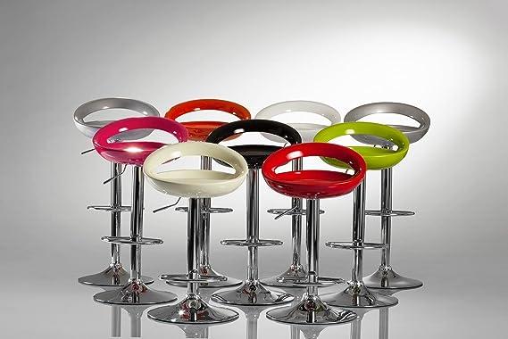 Sgabelli da bar in plastica argento regolabile in altezza con