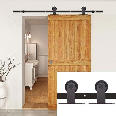 Kit de herramientas para puerta corredera de madera de alta resistencia de 1,82 m de