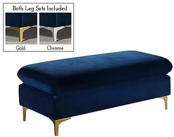 Awesome Amazon Com Meridian Furniture 636Navy Ott Naomi Collection Ibusinesslaw Wood Chair Design Ideas Ibusinesslaworg
