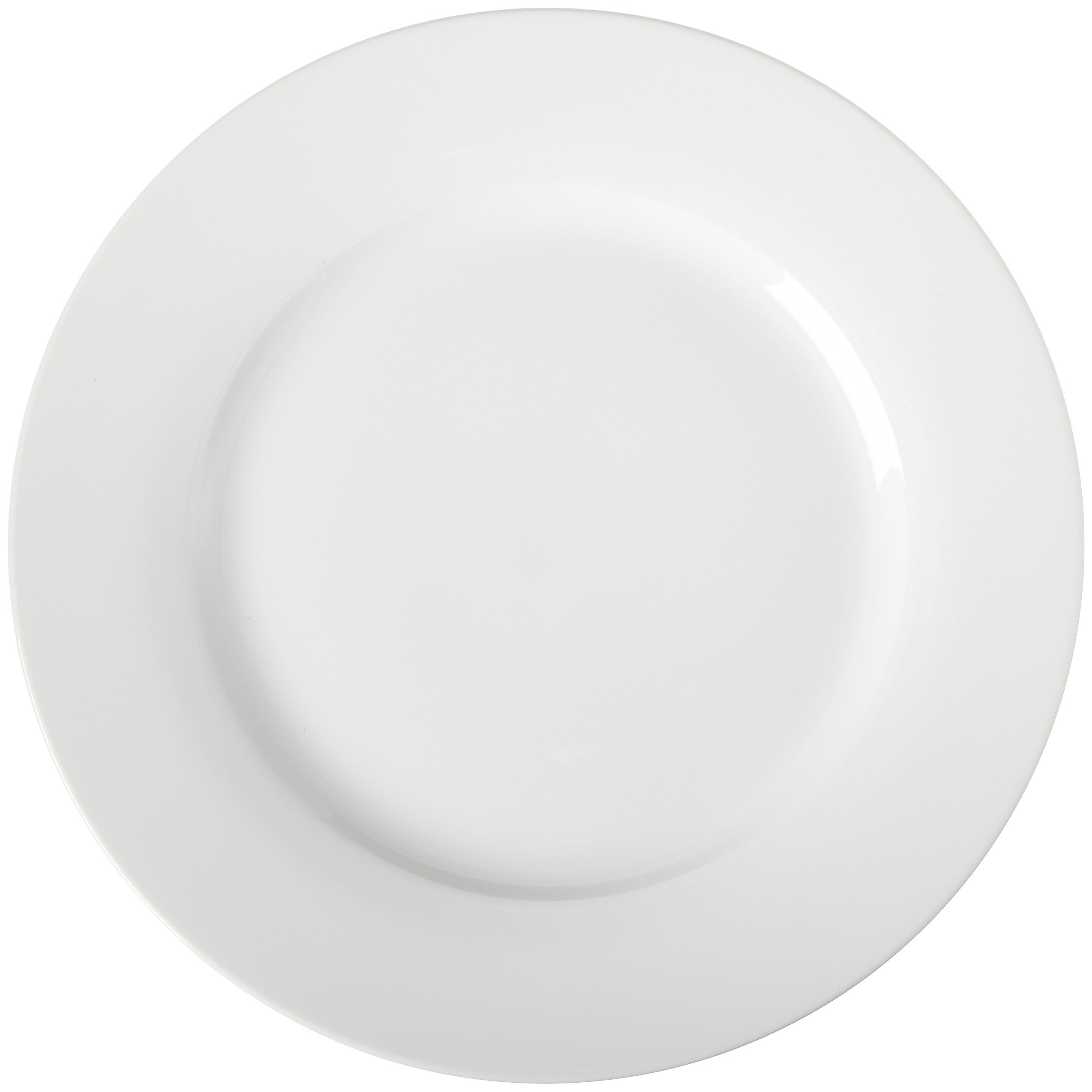 AmazonBasics 6-Piece White Dinner Plate Set by AmazonBasics