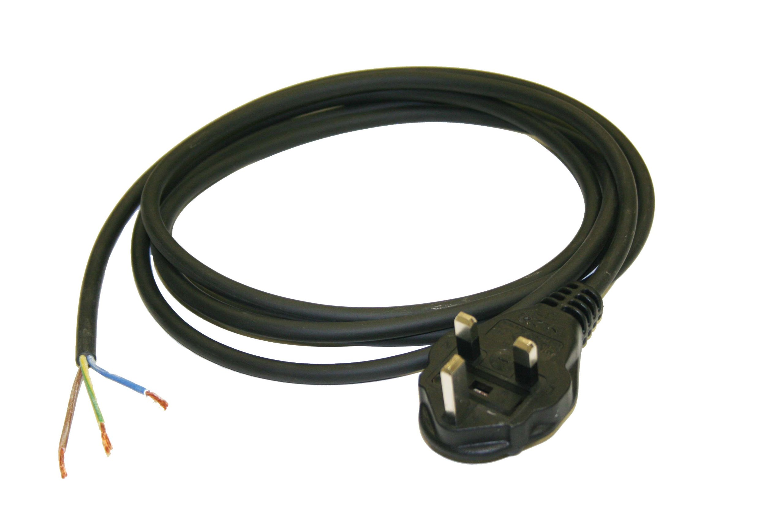 Interpower 86240010 United Kingdom/Ireland Power Cord, BS 1363/A Plug Type, Black Plug Color, 13A Plug Fuse, Black Cable Color, 10A Amperage, 250VAC Voltage, 2.5m Length