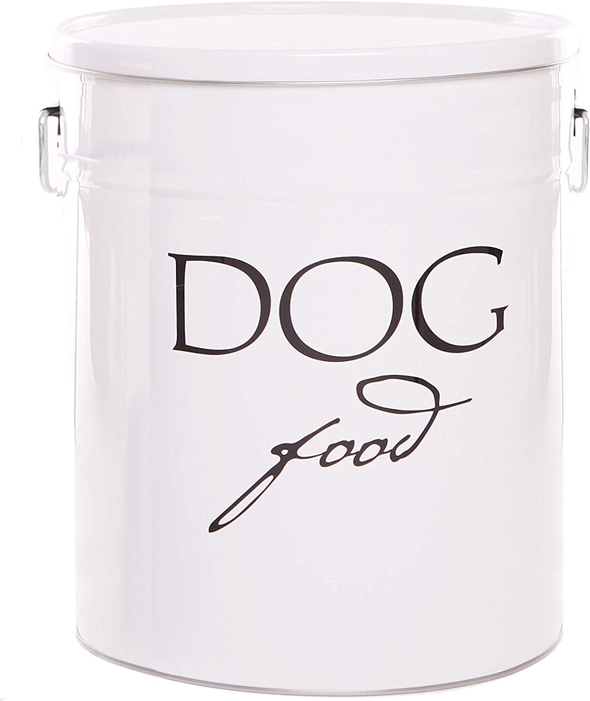 Harry Barker Dog Food Storage - White - 22 lb
