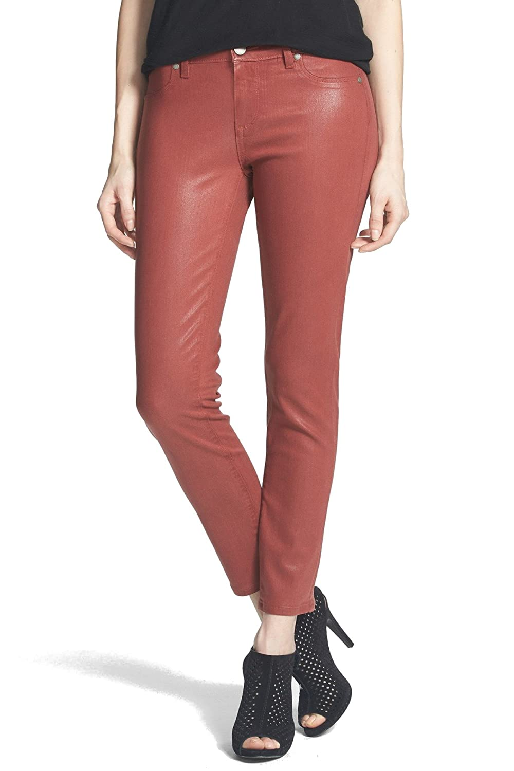 Paige Women's Verdugo Crop in Redwood Silk Coating Redwood Silk Coating 25 26