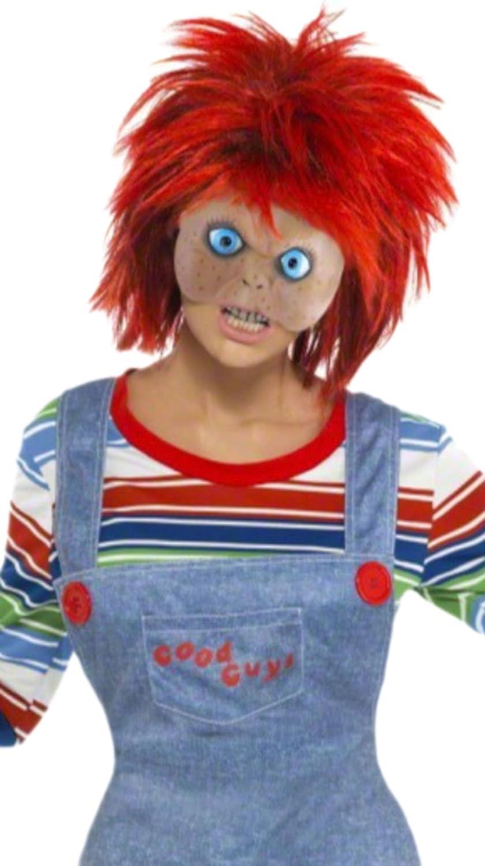 erdbeerloft - Mujer Chucky la möder muñeca Disfraz - Top, vestido - Pantalón de peto, máscara & peluca, S de l, multicolor multicolor Medium: Amazon.es: ...