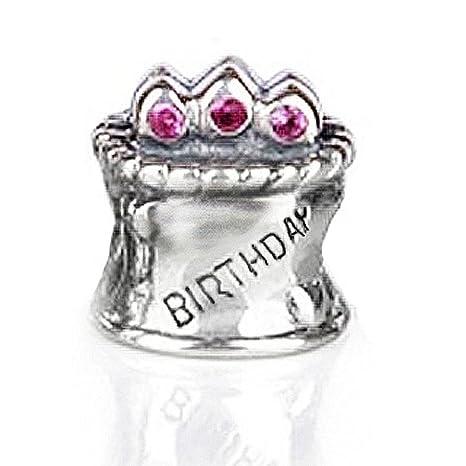 Awe Inspiring Amazon Com Happy Birthday Cake Charm Bead 925 Sterling Silver Birthday Cards Printable Opercafe Filternl