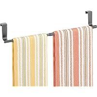 mDesign Adjustable, Expandable Kitchen Over Cabinet Towel Bar Rack - Hang on Inside or Outside of Doors, Storage for…