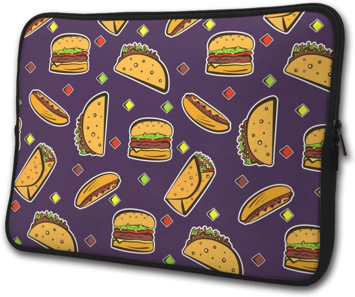 Cartoon Burrito Food Pattern Laptop Sleeve Case Briefcase Cover Protective Computer Bag
