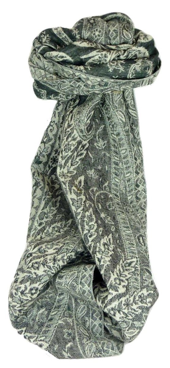 Muffler Scarf 3203 in Fine Pashmina Wool from the Heritage Range by Pashmina & Silk