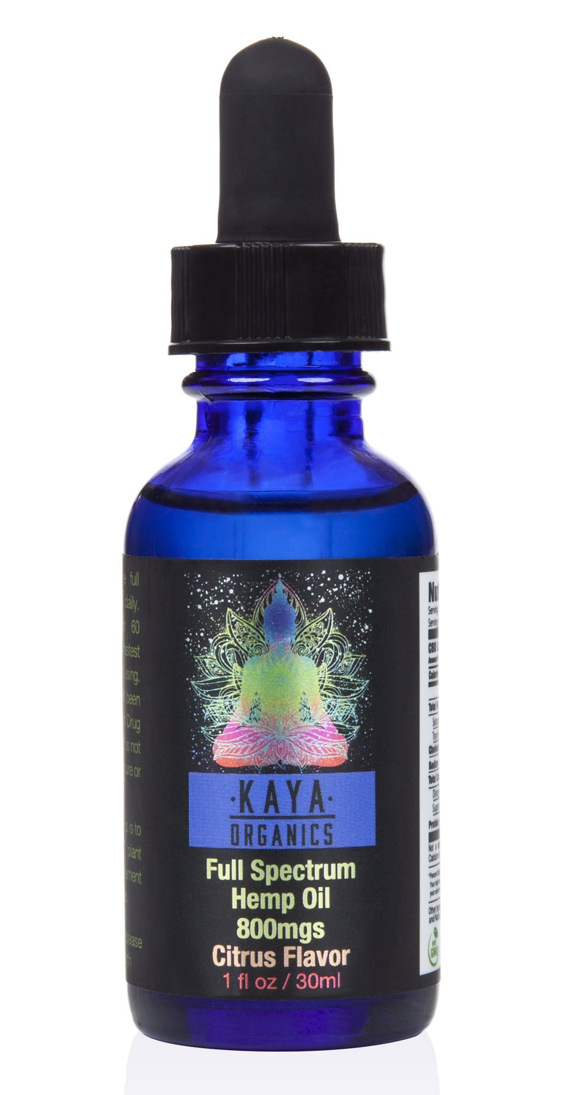 Premium Hemp Oil - 800mg - Full-Spectrum Organic Hemp Oil For Pain, Anxiety, Stress, Inflammation, and Overall Health and Wellness - VETERAN OWNED AND OPERATED - By Kaya Organics