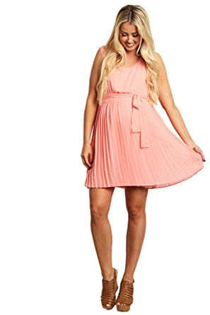 87185397fc Image Unavailable. Image not available for. Color: PinkBlush Maternity Pink  Pleated ...