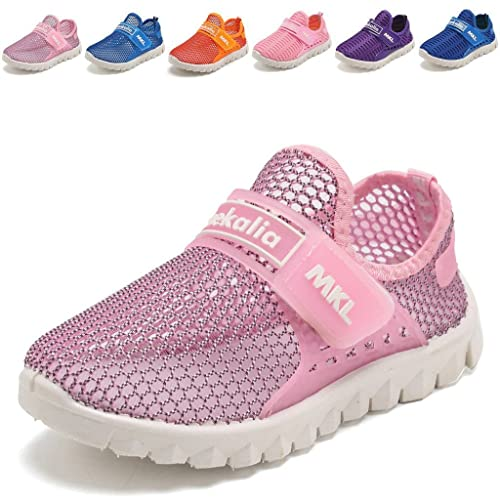 b68fa3e4c6467 WALUCAN Boys and Girls Water Shoes Breathable Mesh Running Shoes Anti-Slip  Sneakers (Little