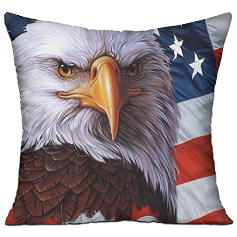 Almohadas relleno relleno Lino la bandera americana ...