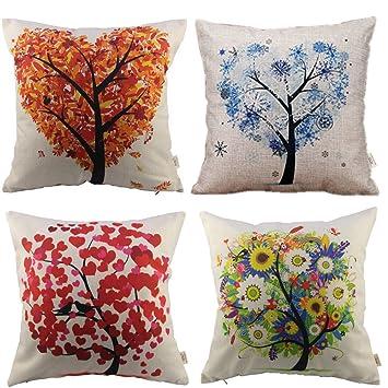 HOSL P71 4-Pack Cotton Linen Sofa Home Decor Design Throw Pillow Case Cushion Covers & Amazon.com: HOSL P71 4-Pack Cotton Linen Sofa Home Decor Design ... pillowsntoast.com