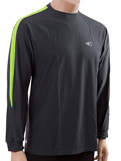 O'Neill men's Tech 24/7 long sleeve sun shirt King 2X Graphite/