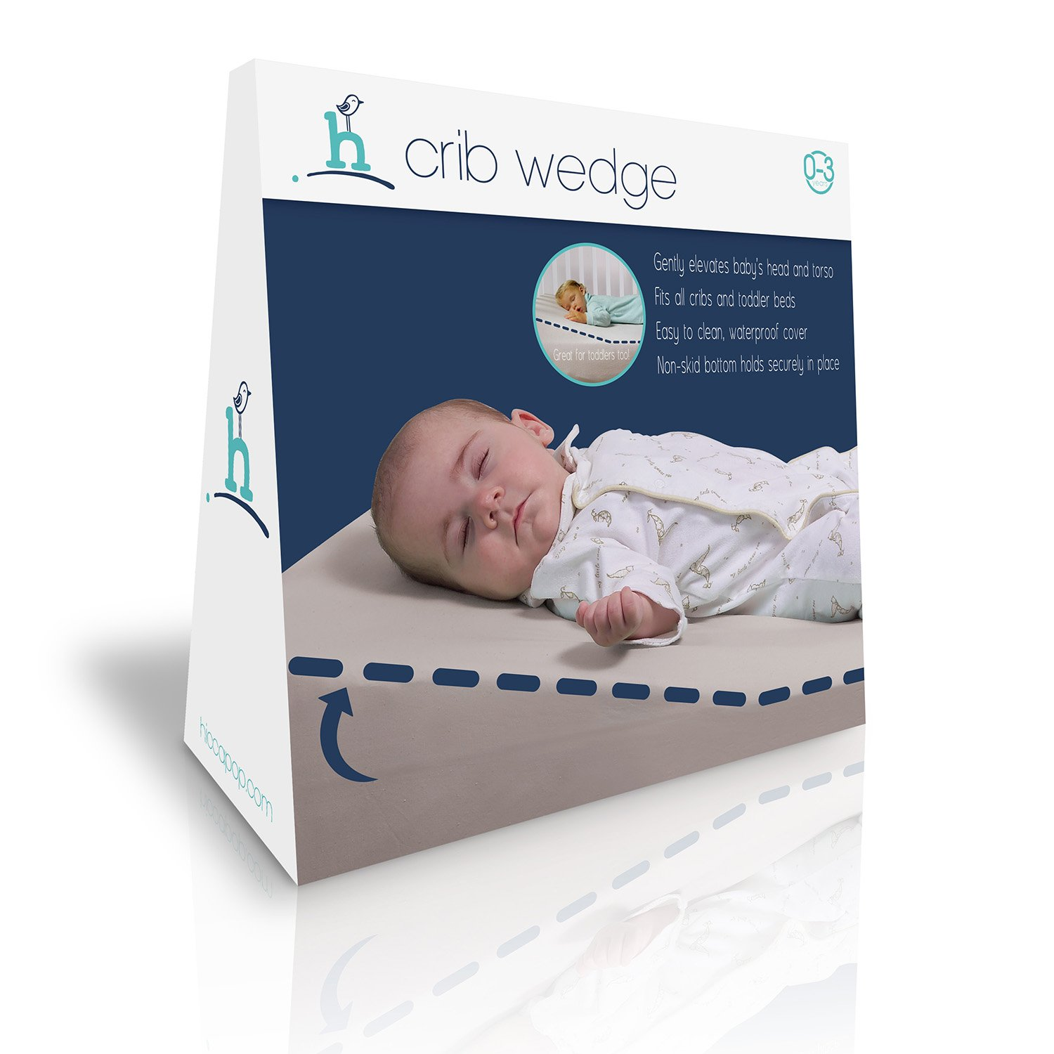Baby cribs little rock ar - Amazon Com Hiccapop Foldable Safe Lift Universal Crib Wedge For Baby Mattress And Sleep Baby