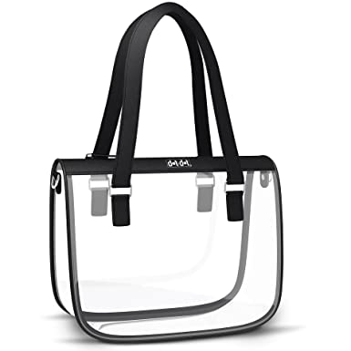 8076fe221302 Stylish Clear Bag for Women - PGA and NFL Stadium Approved Transparent Purse  for Football Games