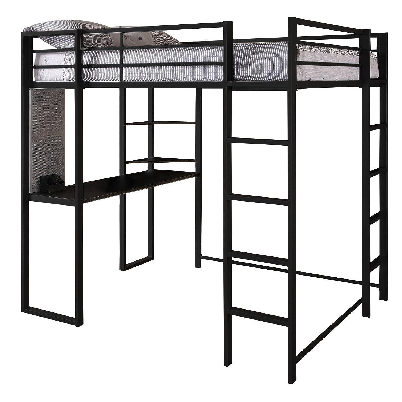 Superior Amazon.com: DHP Abode Full Size Loft Bed Metal Frame With Desk And Ladder,  Black: Kitchen U0026 Dining