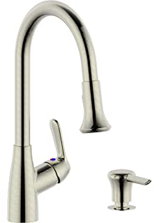 Peerless Choice Single Handle Pull Down Kitchen Faucet With Soap