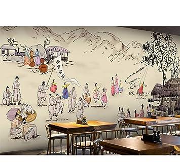Rureng Mural Personalizado 3D Cocina Coreana Fondo De Pantalla Bar ...