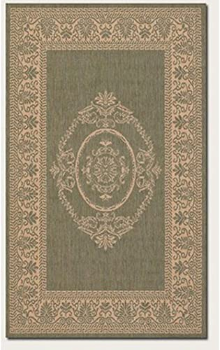 Couristan 1078 1812 Recife Antique Medallion Green-Natural 7-Feet 6-Inch by 10-Feet 9-Inch Rug