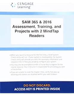 LMS Integrated SAM 365 2016 Assessments Trainings And Projects With 2 MindTap Reader