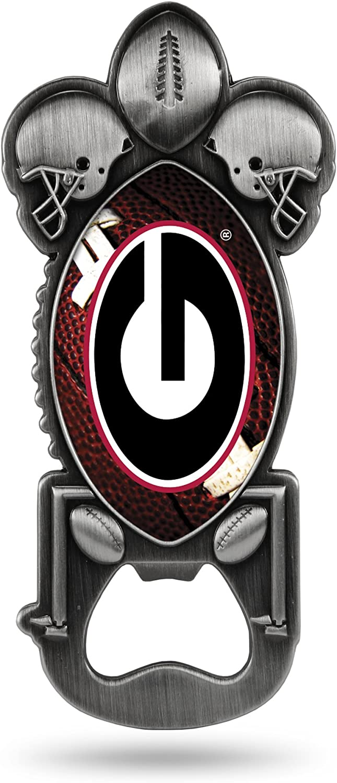Georgia Bulldogs NCAA Rico Industries  Magnetic Metal Bottle Opener Party Starter