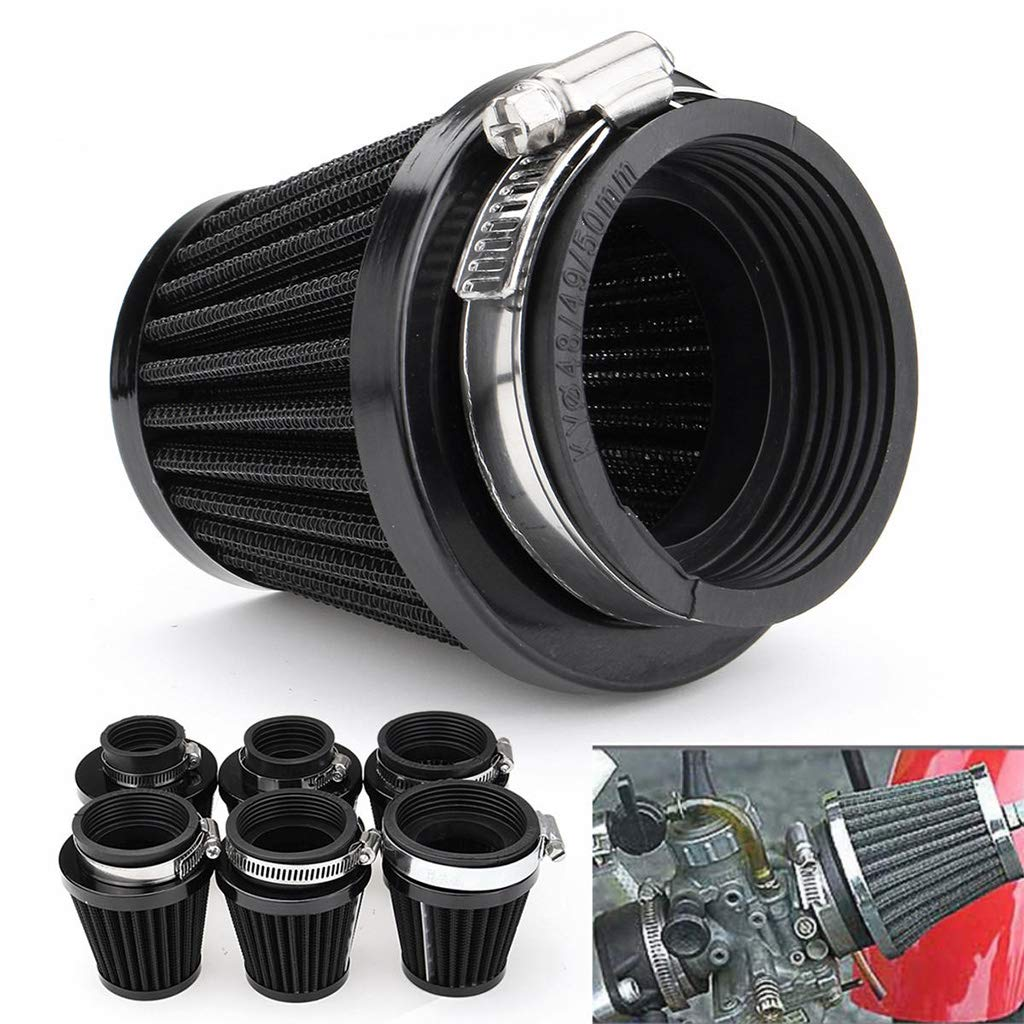 50mm Air Filter Cleaner For Motorcycle ATV Dirt Bike Quad Scooter AF0042