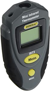 General Tools IRT3 Mini Laser Thermometer, Thermal Detector, Infrared Thermometer