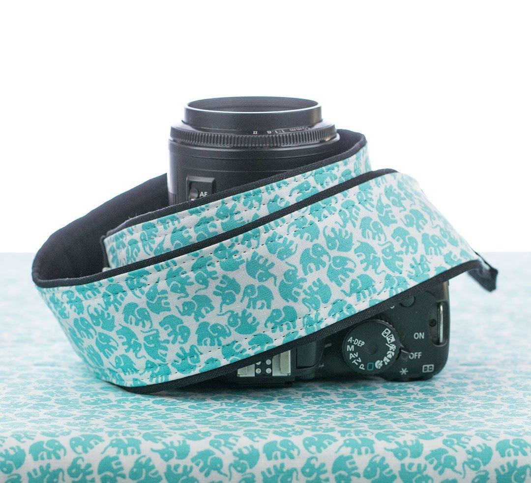 Camera Strap, Elephant, Aqua, dSLR, SLR, Mirrorless 93