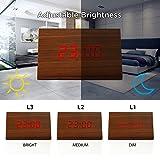 GEARONIC TM Modern Triangle Wood LED Wooden Alarm